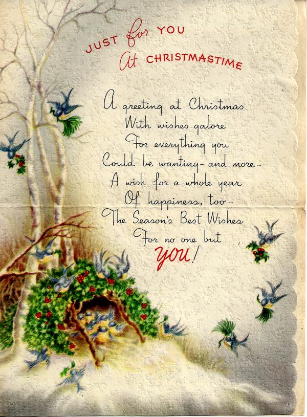 Christmas Day, 1942 Greeting Card