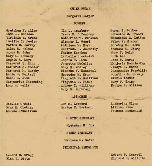 Christmas Day, 1942 Page 2 Roster
