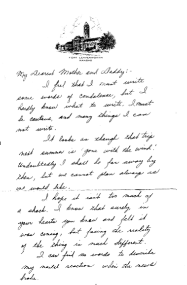 Pearl Harbor - The Day After -  letter