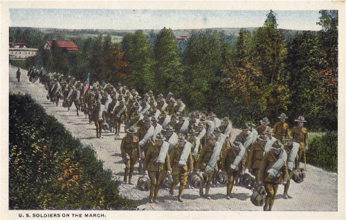 WWI in Pictures - US soldiers on the march WWI