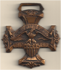 WWI and WWII - front side of WWI medal from Lincoln, Kansas