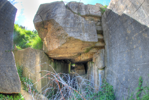 D-Day, 2014 A German bunker that may have had a direct hit.