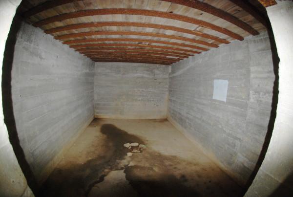 D-Day, 2014 A room inside a German bunker at Pointe-du-Hoc.