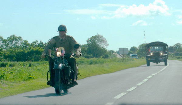 A WWII U. S. Army motorcycle, D-Day, 2014