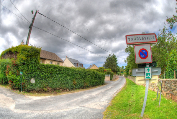 The French town we stayed at for D-Day, 2014