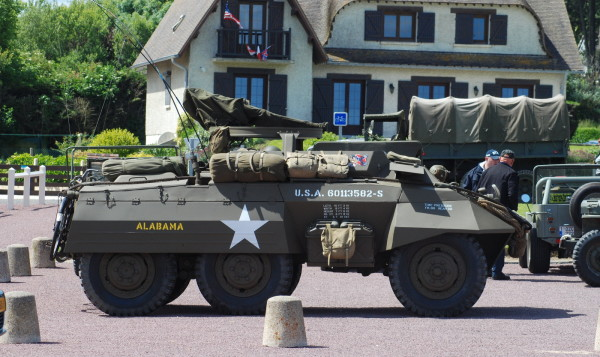 Restored U. S. Army WWII vehicles, D-Day, 2014