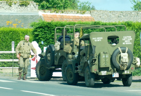 WWII jeep, D-Day, 2014