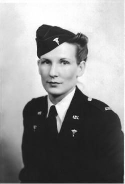 Later photo of Ila Armsbury in her dress uniform.